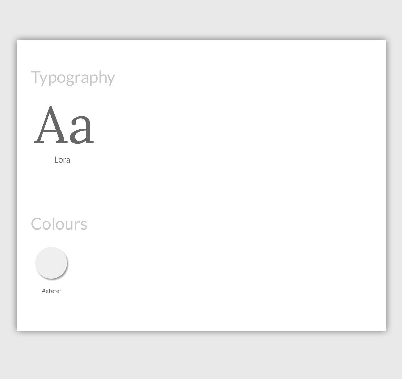 art-website-design-style-guide